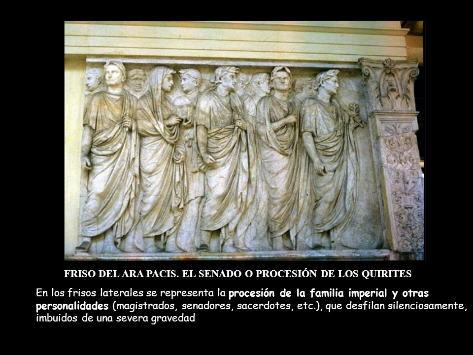 FRISO DEL ARA PACIS. EL SENADO O PROCESIÓN DE LOS QUIRITES
