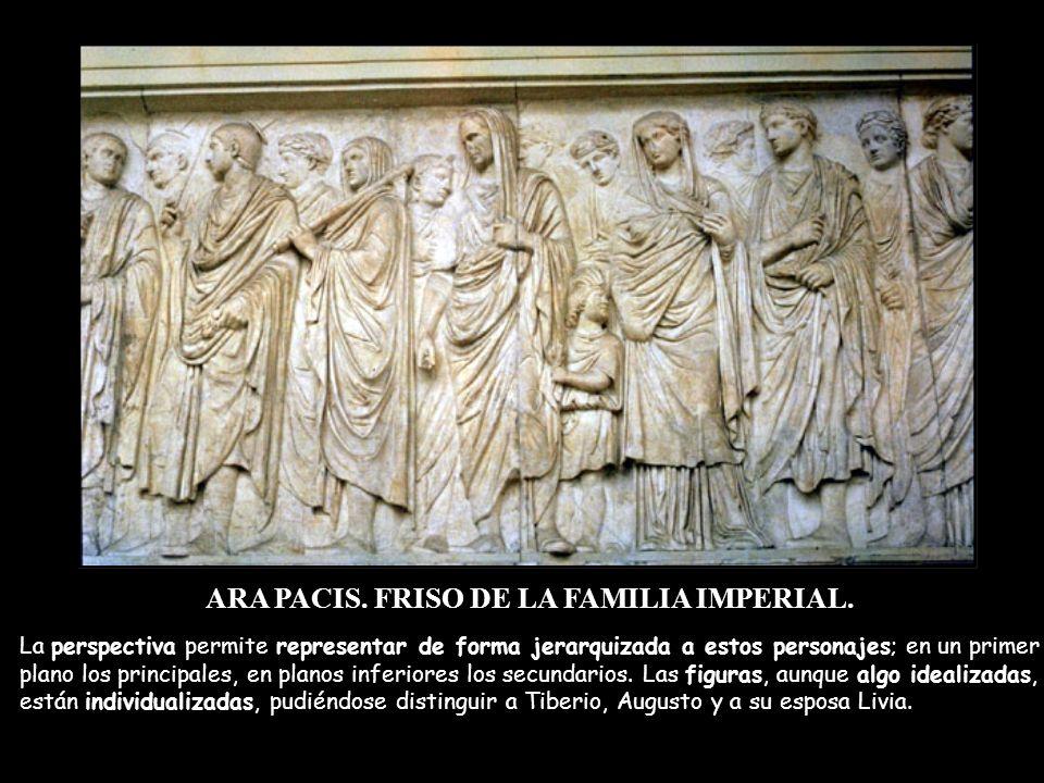 ARA PACIS. FRISO DE LA FAMILIA IMPERIAL.