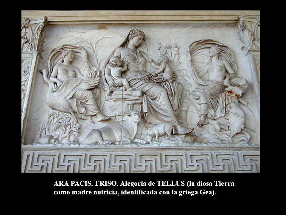 ARA PACIS. FRISO. Alegoría de TELLUS (la diosa Tierra
