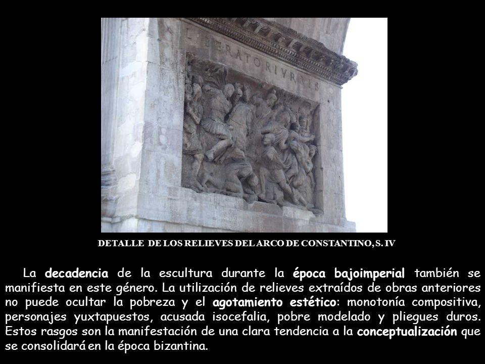 DETALLE DE LOS RELIEVES DEL ARCO DE CONSTANTINO, S. IV