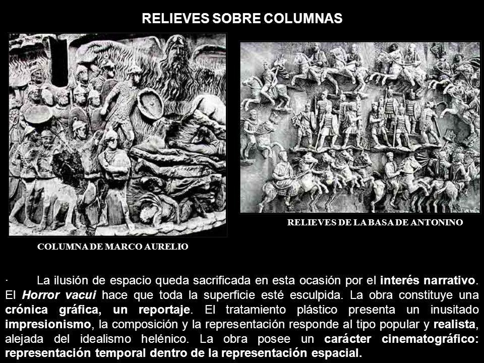 RELIEVES SOBRE COLUMNAS