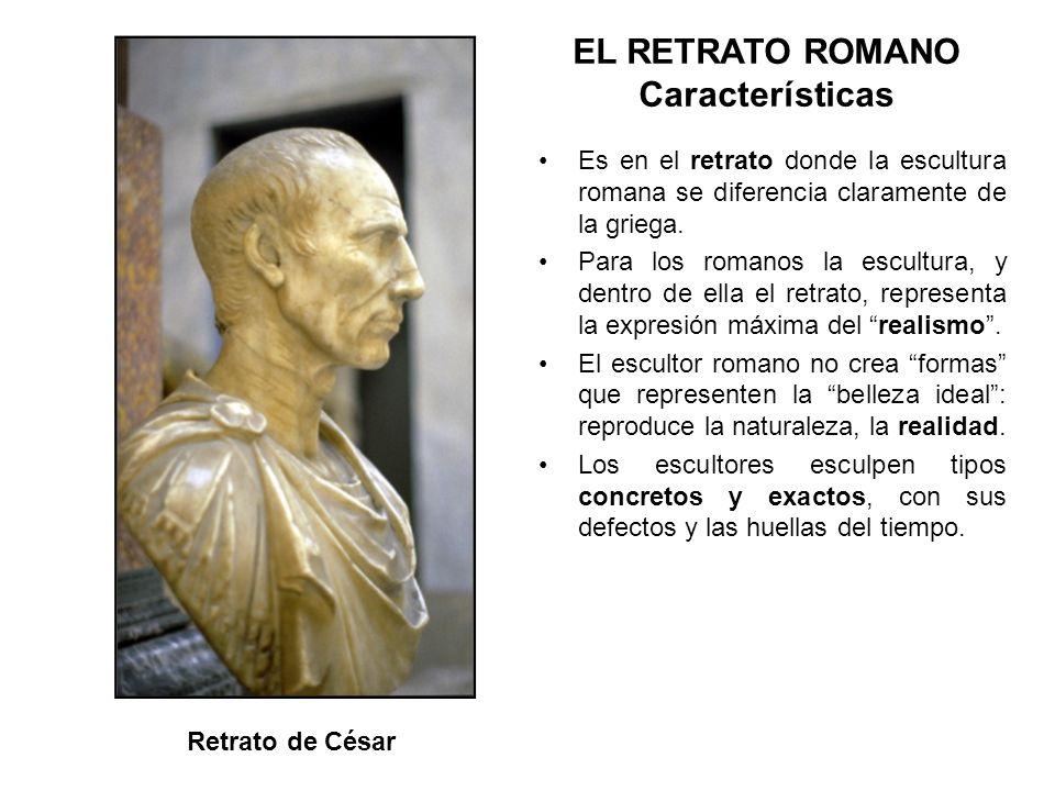 EL RETRATO ROMANO Características