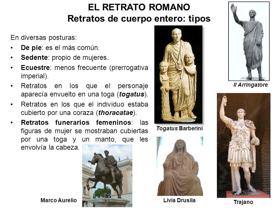EL RETRATO ROMANO Retratos de cuerpo entero: tipos