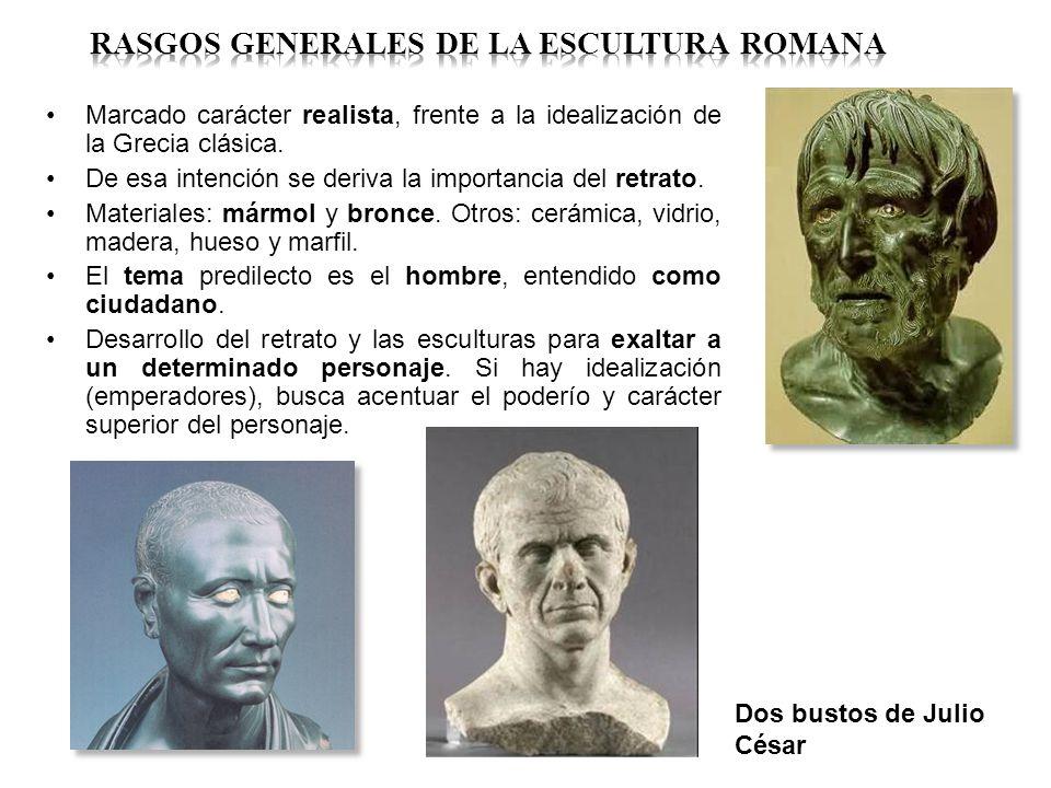 RASGOS GENERALES DE LA ESCULTURA ROMANA