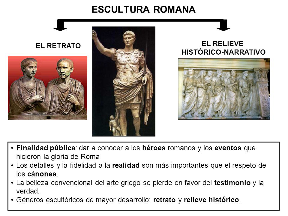 ESCULTURA ROMANA EL RELIEVE EL RETRATO HISTÓRICO-NARRATIVO