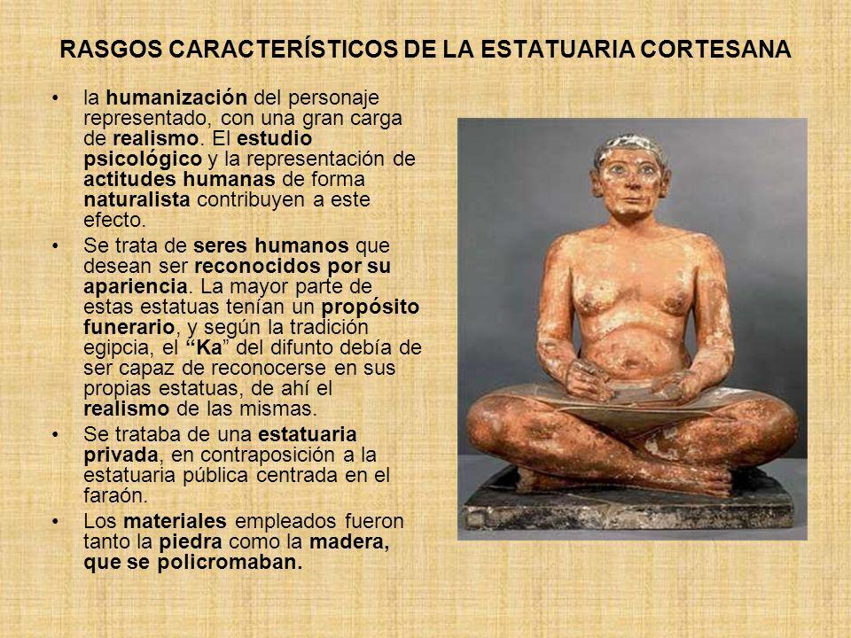 RASGOS CARACTERÍSTICOS DE LA ESTATUARIA CORTESANA