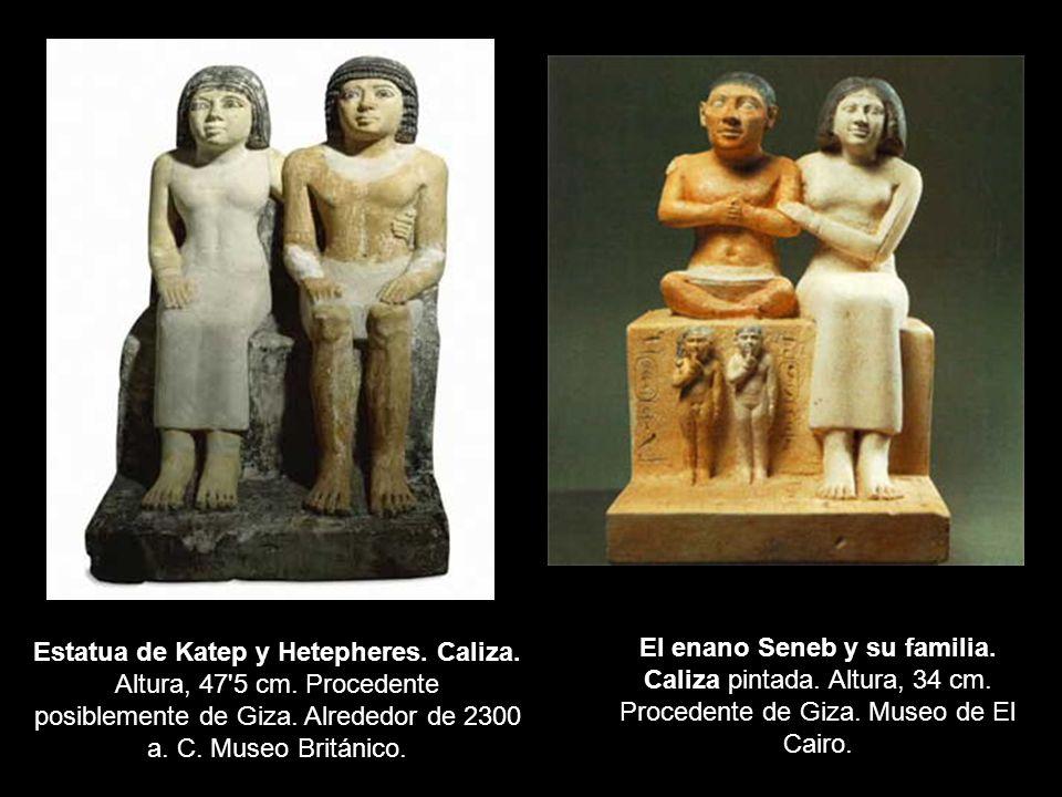 Estatua de Katep y Hetepheres. Caliza. Altura, 47 5 cm