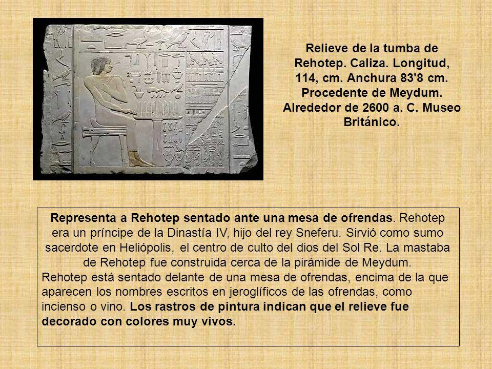 Relieve de la tumba de Rehotep. Caliza. Longitud, 114, cm