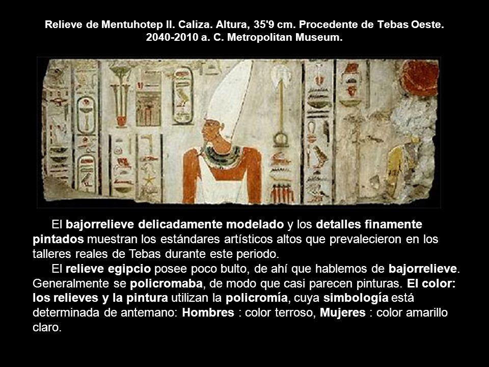 Relieve de Mentuhotep II. Caliza. Altura, 35 9 cm