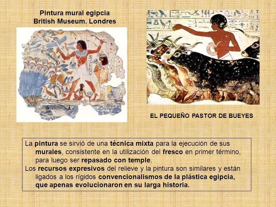Pintura mural egipcia British Museum. Londres