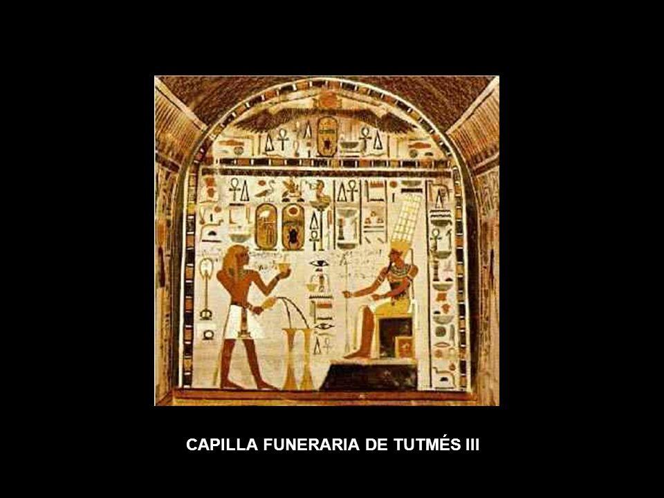 CAPILLA FUNERARIA DE TUTMÉS III