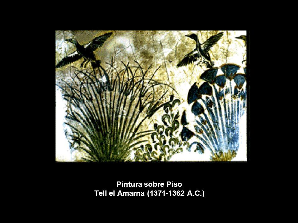 Pintura sobre Piso Tell el Amarna (1371-1362 A.C.)