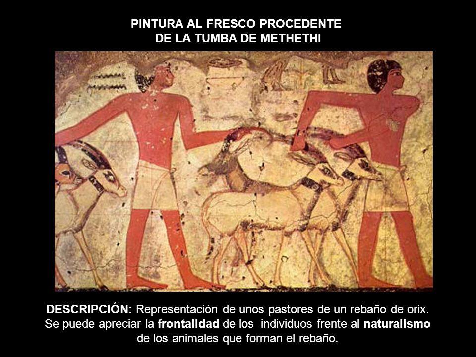 PINTURA AL FRESCO PROCEDENTE DE LA TUMBA DE METHETHI