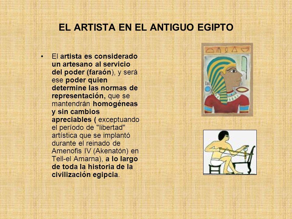 EL ARTISTA EN EL ANTIGUO EGIPTO
