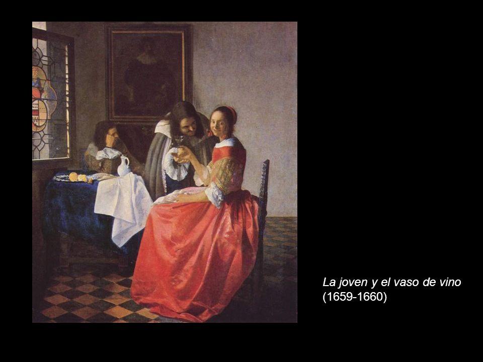 La joven y el vaso de vino