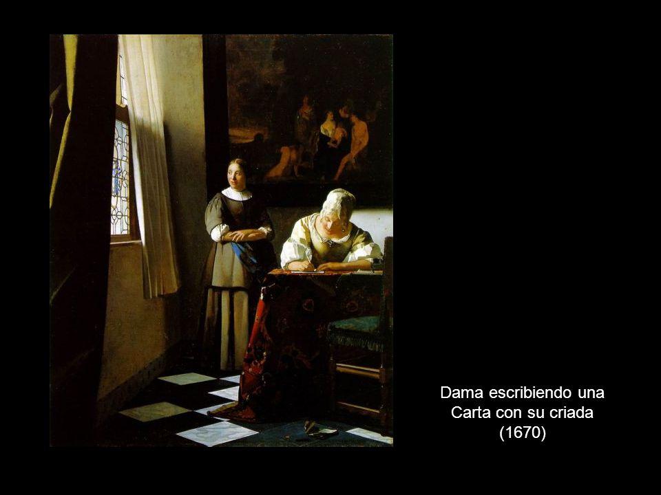 Dama escribiendo una Carta con su criada (1670)