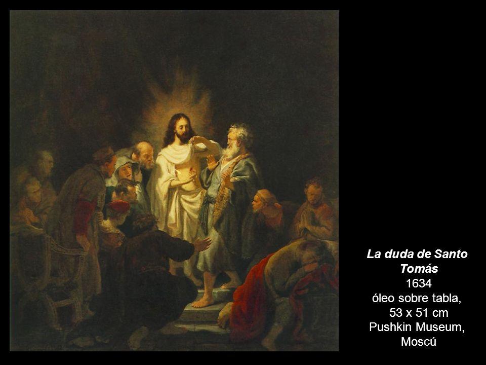 La duda de Santo Tomás 1634 óleo sobre tabla, 53 x 51 cm Pushkin Museum, Moscú