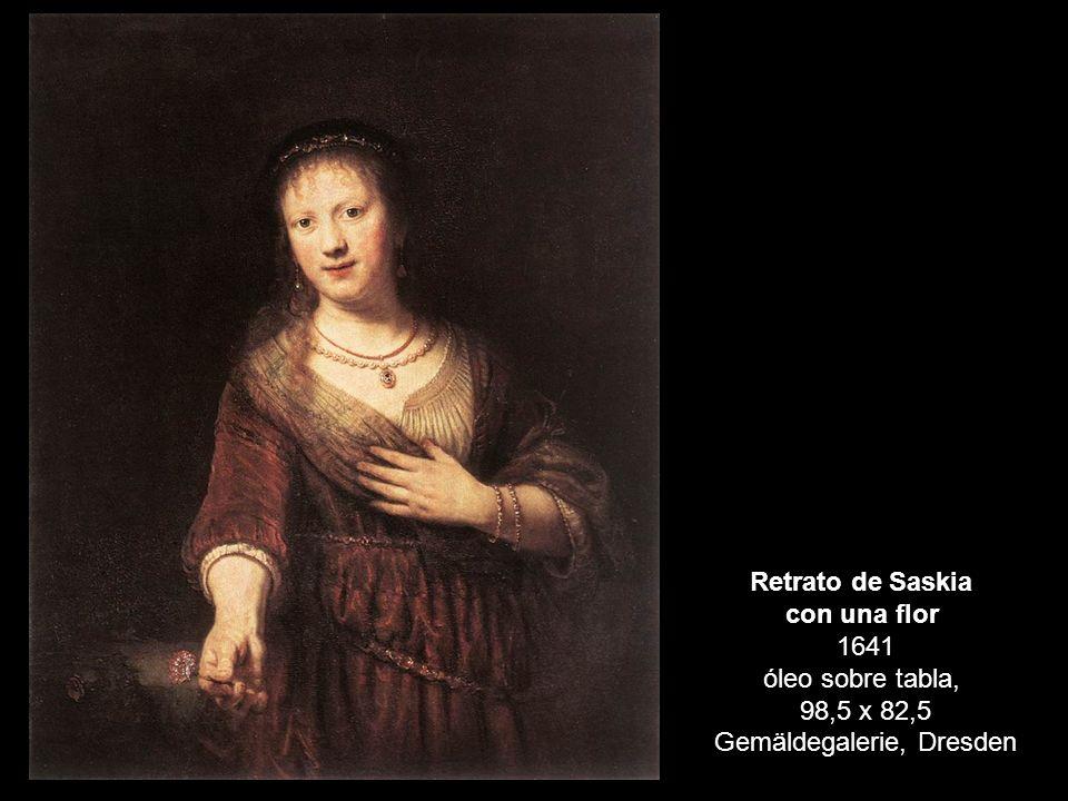 con una flor 1641 óleo sobre tabla,