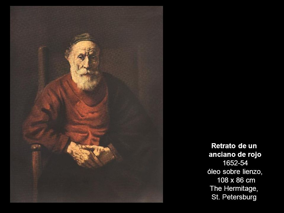 anciano de rojo 1652-54 óleo sobre lienzo,