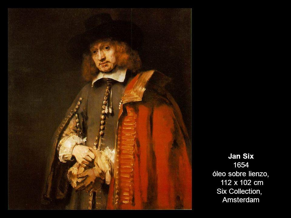 Jan Six 1654 óleo sobre lienzo,