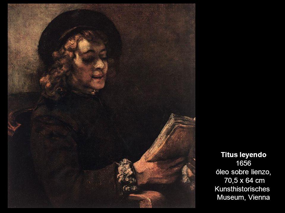 Titus leyendo 1656 óleo sobre lienzo,