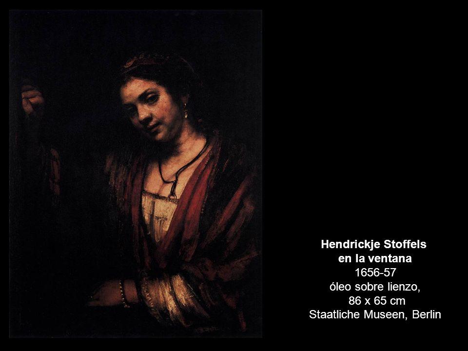 en la ventana 1656-57 óleo sobre lienzo,