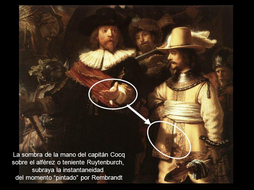 La sombra de la mano del capitán Cocq