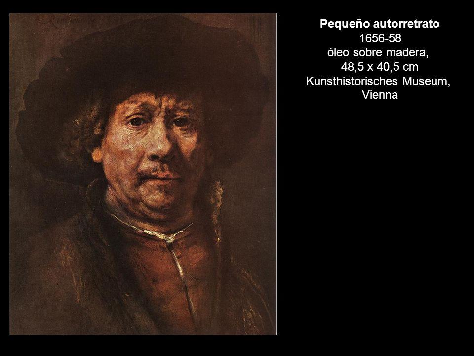 Pequeño autorretrato 1656-58 óleo sobre madera,