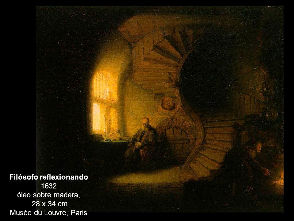 Filósofo reflexionando 1632 óleo sobre madera,