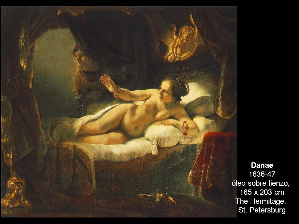 Danae 1636-47 óleo sobre lienzo,