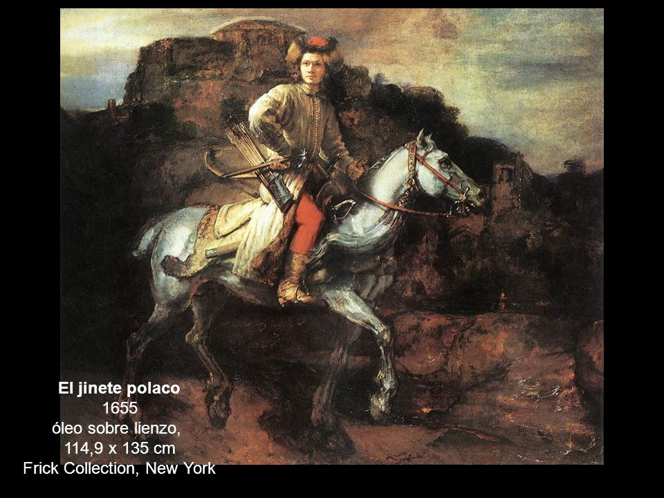 El jinete polaco 1655 óleo sobre lienzo,