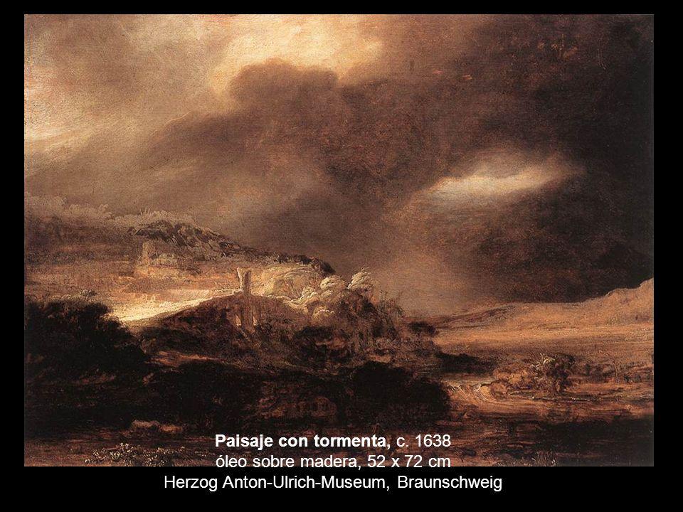 Paisaje con tormenta, c. 1638 óleo sobre madera, 52 x 72 cm Herzog Anton-Ulrich-Museum, Braunschweig