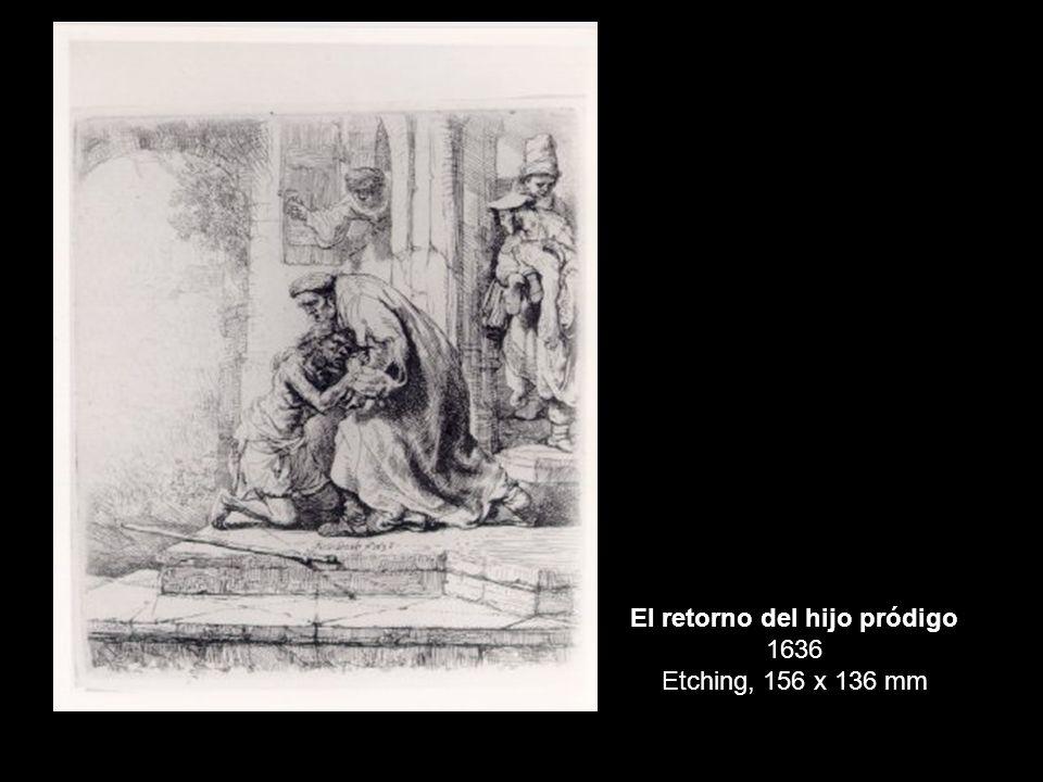 El retorno del hijo pródigo 1636 Etching, 156 x 136 mm