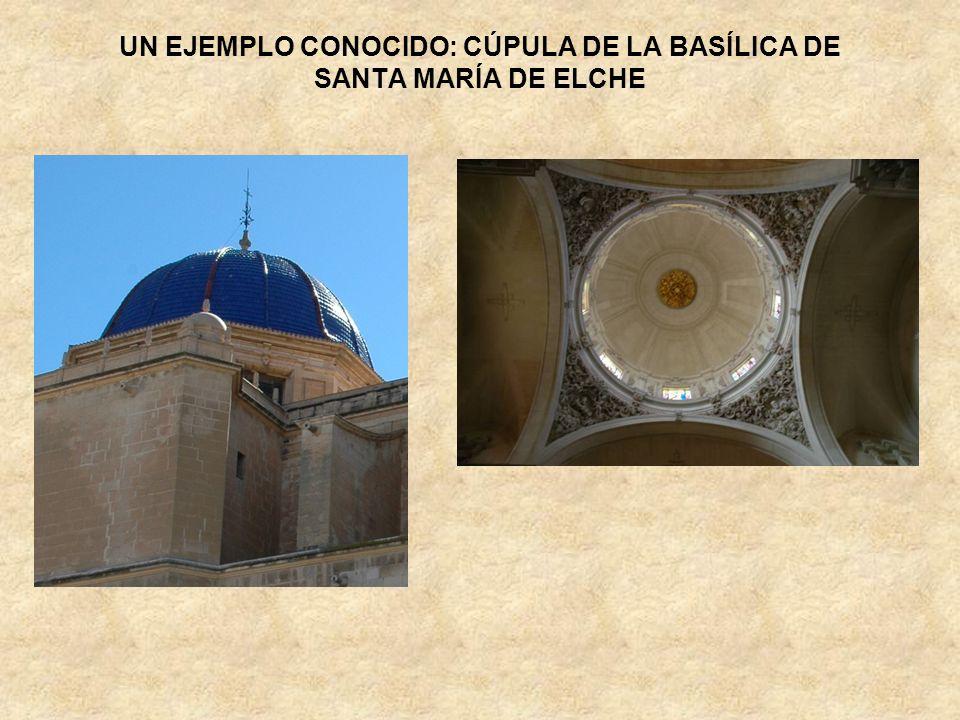 UN EJEMPLO CONOCIDO: CÚPULA DE LA BASÍLICA DE SANTA MARÍA DE ELCHE