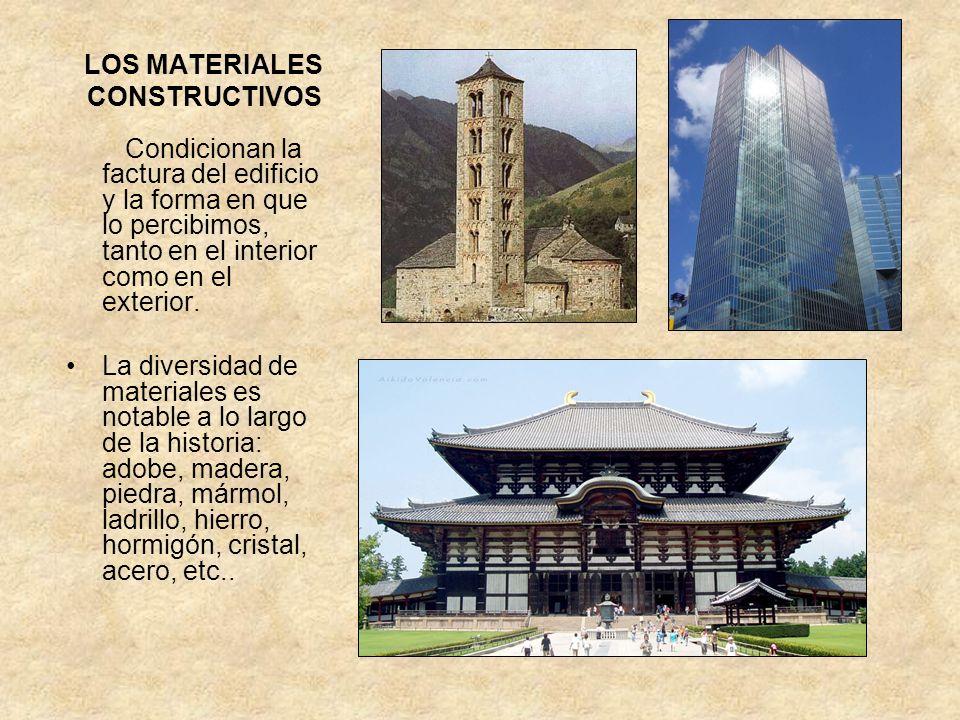 LOS MATERIALES CONSTRUCTIVOS