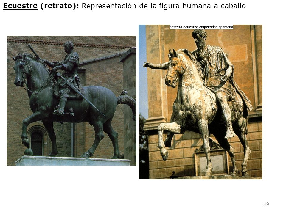 Ecuestre (retrato): Representación de la figura humana a caballo