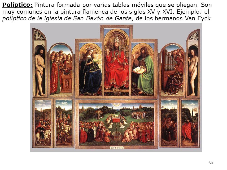 Políptico: Pintura formada por varias tablas móviles que se pliegan