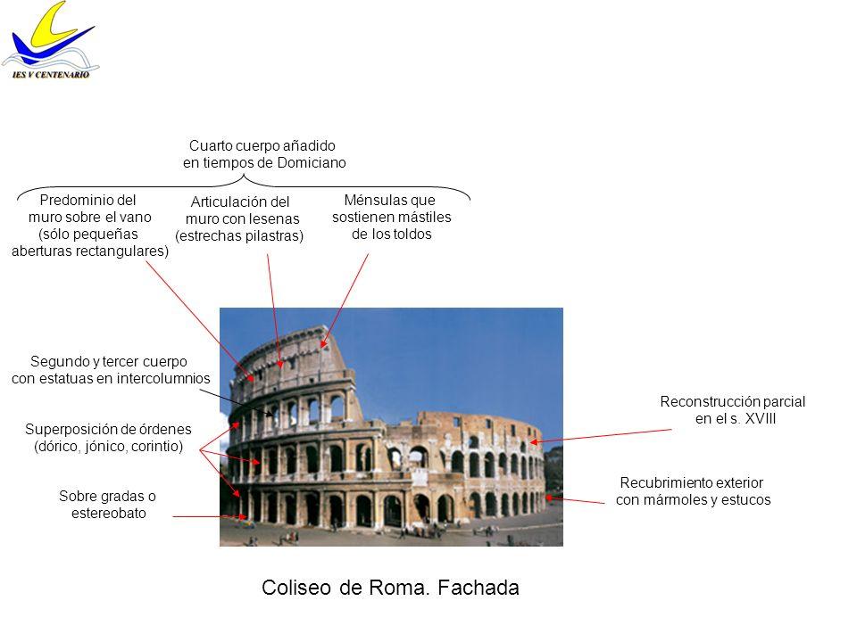 Coliseo de Roma. Fachada