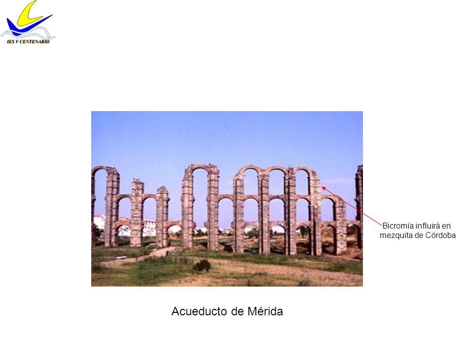 Bicromía influirá en mezquita de Córdoba Acueducto de Mérida
