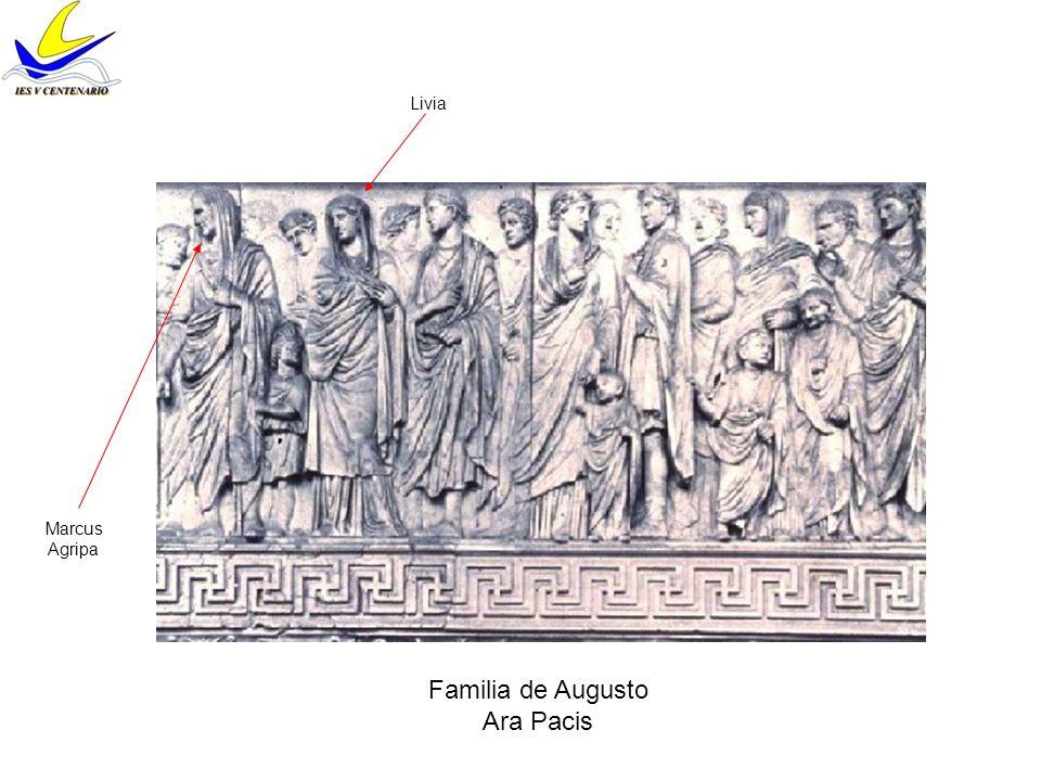 Livia Marcus Agripa Familia de Augusto Ara Pacis