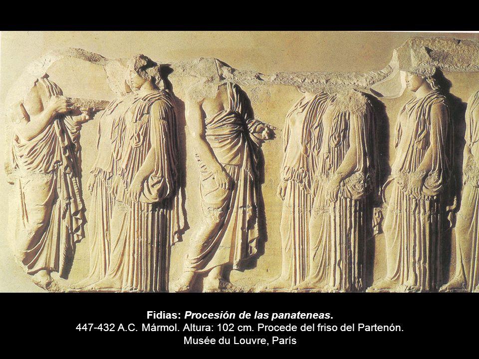 Fidias: Procesión de las panateneas. 447-432 A. C. Mármol