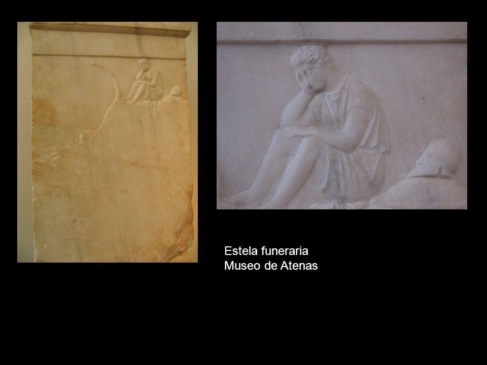 Estela funeraria Museo de Atenas