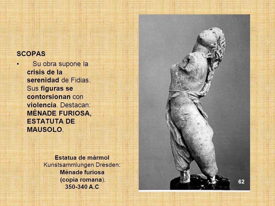 Estatua de mármol Kunstsammlungen Dresden: Ménade furiosa