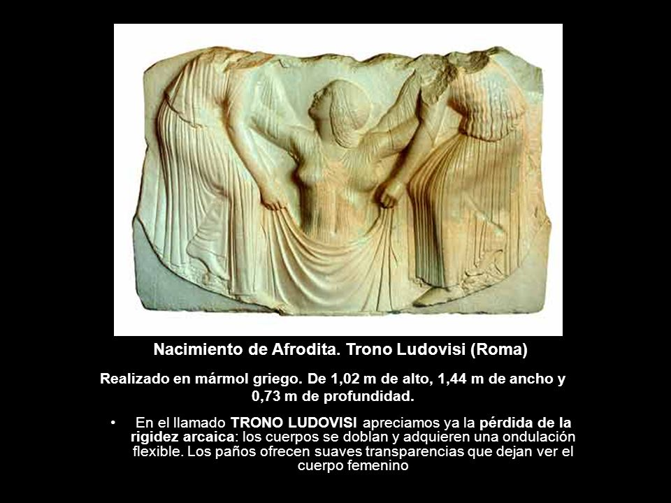 Nacimiento de Afrodita. Trono Ludovisi (Roma)