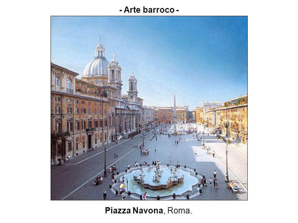 - Arte barroco - Piazza Navona, Roma.