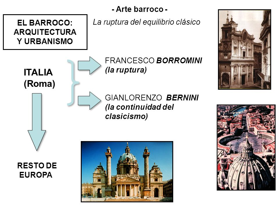 EL BARROCO: ARQUITECTURA Y URBANISMO