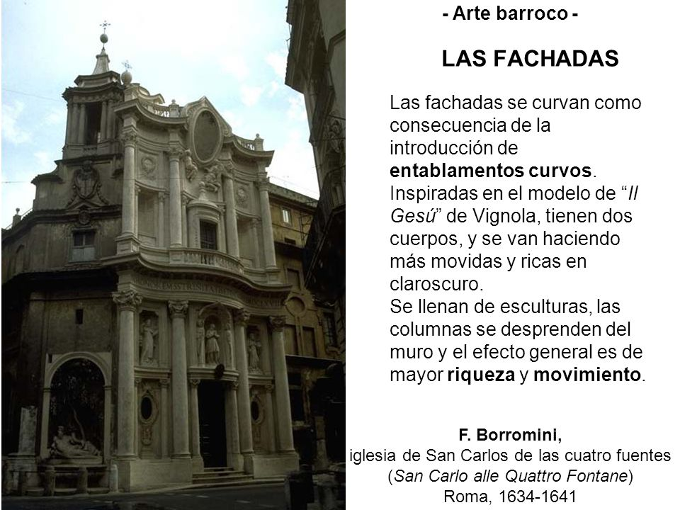 LAS FACHADAS - Arte barroco -