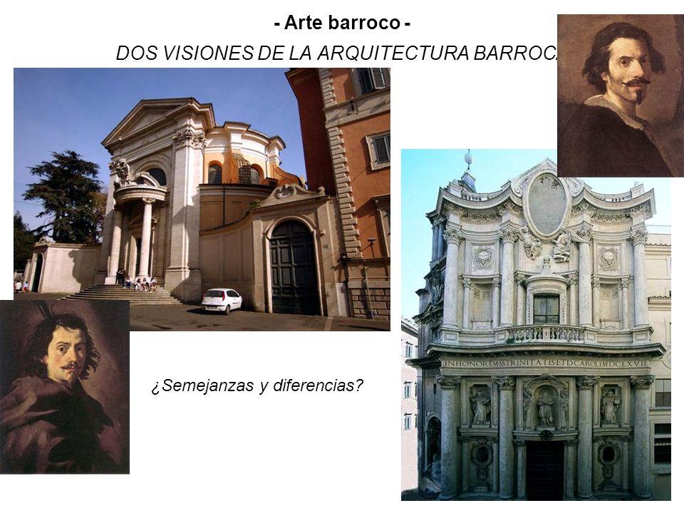 DOS VISIONES DE LA ARQUITECTURA BARROCA