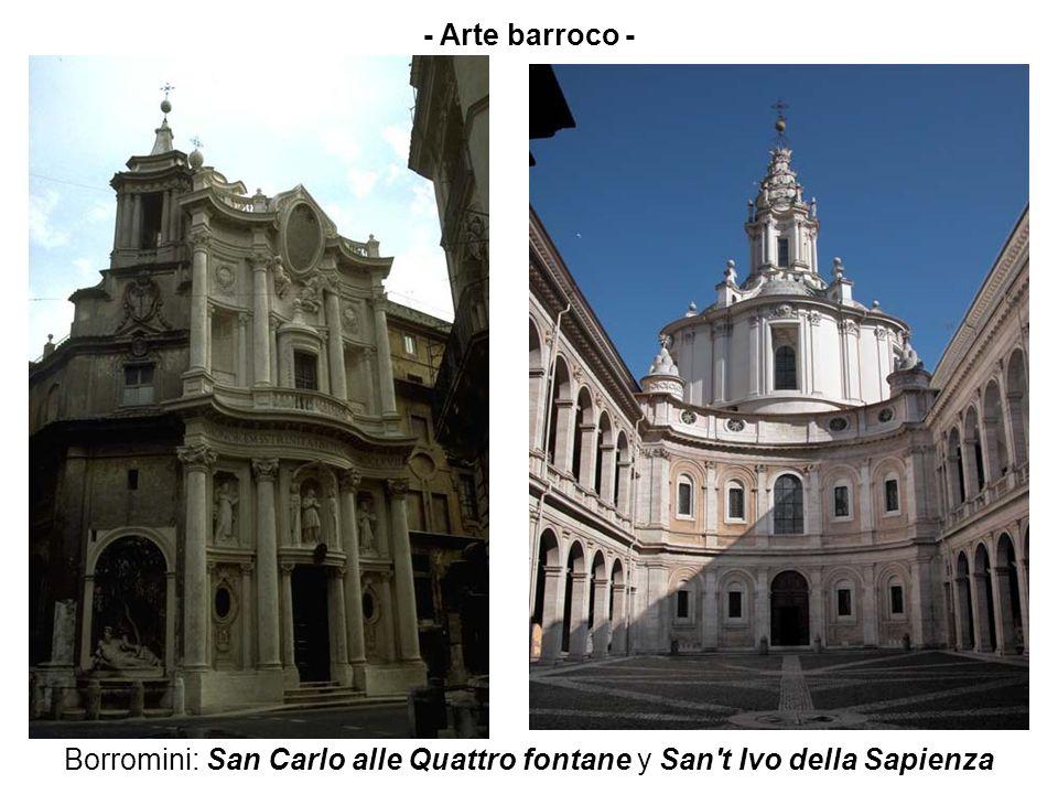 Borromini: San Carlo alle Quattro fontane y San t Ivo della Sapienza