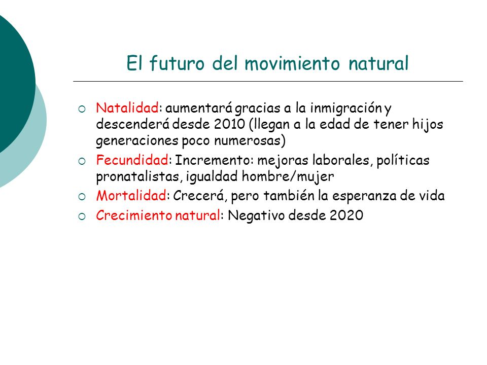 El futuro del movimiento natural